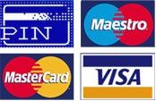 Betalen per pin en creditcard